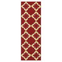 Kaleen Escape Tiles 2-Foot x 6-Foot Indoor/Outdoor Runner in Red