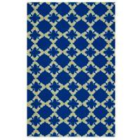Kaleen Escape Tiles 5-Foot x 7-Foot 6-Inch Indoor/Outdoor Rug in Navy