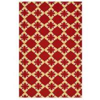 Kaleen Escape Tiles 8-Foot x 10-Foot Indoor/Outdoor Rug in Red