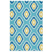 Kaleen Escape Diamond 4-Foot x 6-Foot Indoor/Outdoor Rug in Blue