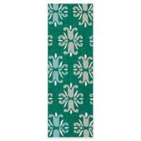 Kaleen Escape Floral 2-Foot x 6-Foot Indoor/Outdoor Runner in Emerald