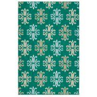 Kaleen Escape Floral 4-Foot x 6-Foot Indoor/Outdoor Area Rug in Emerald