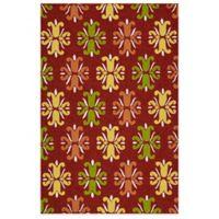 Kaleen Escape Floral 5-Foot x 7-Foot 6-Inch Indoor/Outdoor Area Rug in Red
