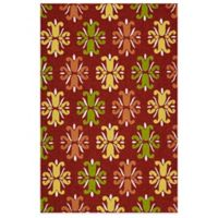 Kaleen Escape Floral 8-Foot x 10-Foot Indoor/Outdoor Area Rug in Red