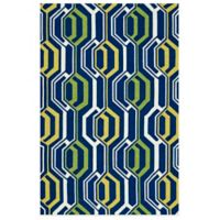 Kaleen Escape Mirrors 2-Foot x 3-Foot Indoor/Outdoor Rug in Navy