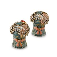 Quest Gifts and Design Bouquet Salt and Pepper Shaker Set in White