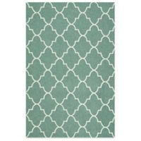 Kaleen Escape Trellis 2-Foot x 3-Foot Indoor/Outdoor Rug in Green