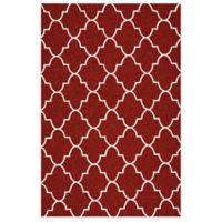 Kaleen Escape Trellis 5-Foot x 7-Foot 6-Inch Indoor/Outdoor Rug in Red