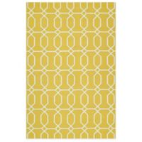 Kaleen Escape Links 2-Foot x 3-Foot Indoor/Outdoor Rug in Gold
