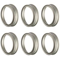 Kilner® Metal Vintage Screw Bands (Set of 6)