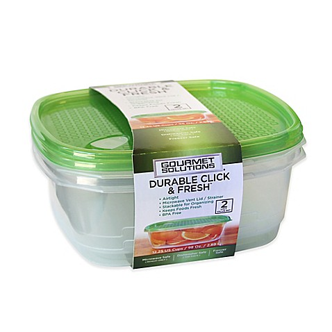Click fresh food storage containers with vent for Bathroom containers with lids
