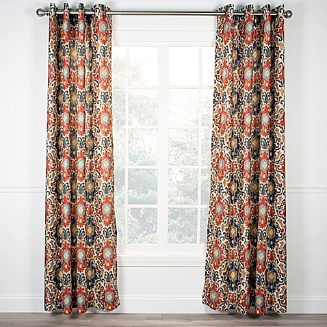 Buy Tuscany 63 Inch Grommet Top Window Curtain Panel In