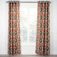 Tuscany 63-Inch Grommet Top Window Curtain Panel in Red