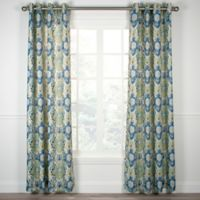 Tuscany 63-Inch Grommet Top Window Curtain Panel in Blue