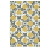Kaleen Escape Pumpkin Tiles 4-Foot x 6-Foot Indoor/Outdoor Rug in Gold
