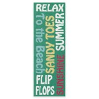 Kaleen Escape Beach 2-Foot x 6-Foot Beach Indoor/Outdoor Runner in Emerald
