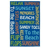 Kaleen Escape Beach 4-Foot x 6-Foot Indoor/Outdoor Rug in Blue