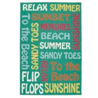 Kaleen Escape Beach 5-Foot x 7-Foot 6-Inch Indoor/Outdoor Rug in Emerald