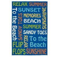 Kaleen Escape Beach 8-Foot x 10-Foot Indoor/Outdoor Rug in Blue
