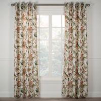 Brissac 63-Inch Grommet Window Curtain Panel in Red