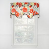 Matisse Scalloped Cotton Valance in Red