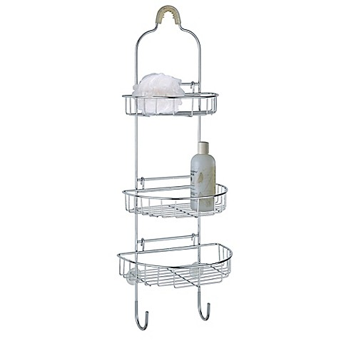 adjustable shower caddy in chrome bed bath beyond