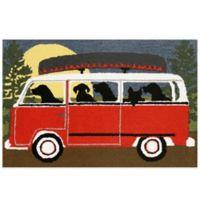 Trans-Ocean 30-Inch x 48-Inch Camping Trip Door Mat in Red