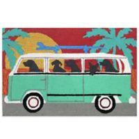 Trans-Ocean 20-Inch x 30-Inch Beach Trip Door Mat in Turquoise