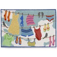 Trans-Ocean 30-Inch x 48-Inch Clothesline Door Mat