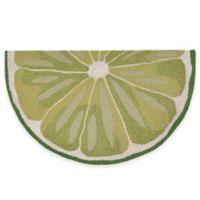 Trans-Ocean 30-Inch x 48-Inch Lime Slice Door Mat