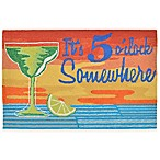 Trans-Ocean 20-Inch x 30-Inch It's 5 O'clock Sunset Accent Rug