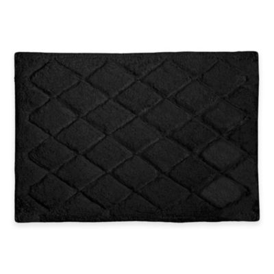 Avanti Splendor 17 Inch X 24 Bath Rug In Black