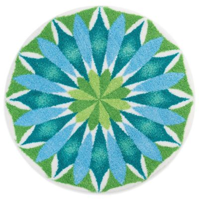 Exceptional Grund® Sunrise 2 Foot 8 Inch Round Bath Rug