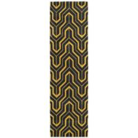 Kaleen Revolution Geometric 2-Foot 3-Inch x 8-Foot Area Rug in Yellow