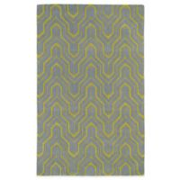 Kaleen Revolution Geometric 5-Foot x 7-Foot 9-Inch Area Rug in Grey