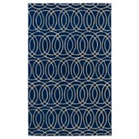 Kaleen Revolution Circles 2-Foot x 3-Foot Accent Rug in Navy