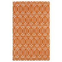 Kaleen Revolution Circles 2-Foot x 3-Foot Area Rug in Orange