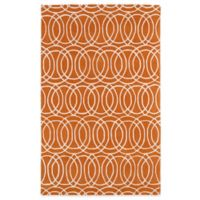 Kaleen Revolution Circles 3-Foot x 5-Foot Area Rug in Orange