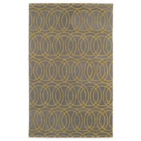 Kaleen Revolution Circles 5-Foot x 7-Foot 9-Inch Area Rug in Yellow