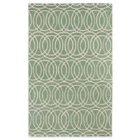 Kaleen Revolution Circles 5-Foot x 7-Foot 9-Inch Area Rug in Mint