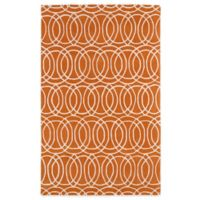 Kaleen Revolution Circles 8-Foot x 11-Foot Area Rug in Orange