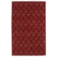 Kaleen Revolution Circles 8-Foot x 11-Foot Area Rug in Red