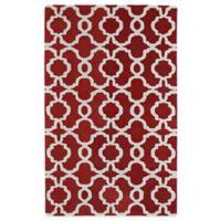 Kaleen Revolution Trellis 2-Foot x 3-Foot Accent Rug in Red