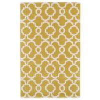 Kaleen Revolution Trellis 5-Foot x 7-Foot 9-Inch Area Rug in Yellow