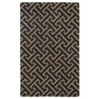 Kaleen Revolution 2-Foot x 3-Foot Lines Accent Rug in Charcoal
