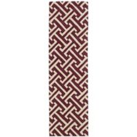 Kaleen Revolution 2-Foot 3-Inch x 8-Foot Lines Area Rug in Plum
