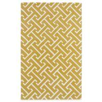 Kaleen Revolution 8-Foot x 11-Foot Lines Area Rug in Yellow
