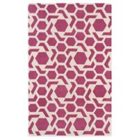 Kaleen Revolution 5-Foot x 7-Foot 9-Inch Area Rug in Pink
