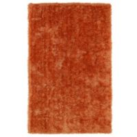 Kaleen Posh 2-Foot x 3-Foot Shag Accent Rug in Orange