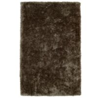 Kaleen Posh 2-Foot x 3-Foot Shag Accent Rug in Light Brown